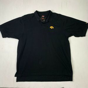 Nike Iowa Hawkeyes NCAA Polo Black T Shirt 2XL